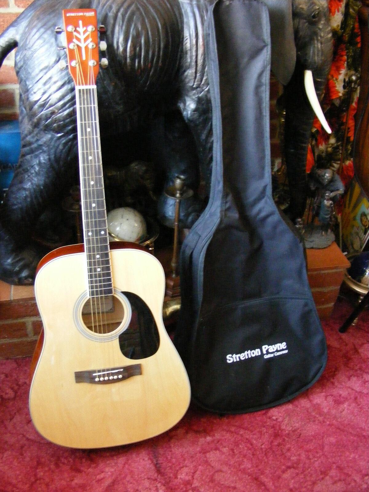 Stretton Payne Right Handed 6 String Acoustic Guitar Model SPD1 D1 Original Bag