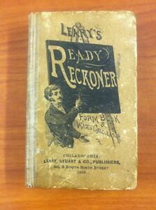 image is loading 1913 leary 039 s ready reckoner form book