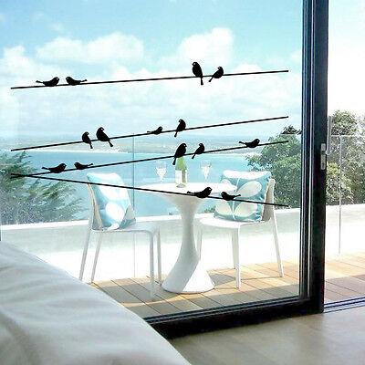 Telegraph poles bird Room Decor Removable Vinyl Decal Mural Art PVC Wall Sticker