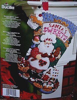 "CHRISTMAS CAROUSEL~Bucilla Felt Santa Musical Stocking Kit Factory Direct OOP18/"""