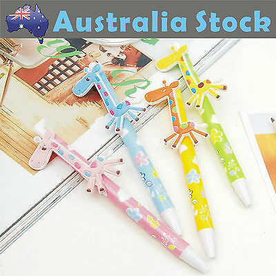 Super Cute Giraffe Ball Pen Stationery Kids Toy Back to School 4Colors to Choose