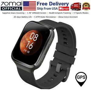 70mai Saphir Smart Watch 1.78'' AMOLED GPS Heart Rate Monitor 5ATM Waterproof US