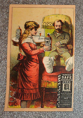 100% Quality Graphic Trade Card Advertising Warner's Safe Cure