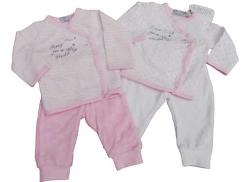 BNWT Baby girls soft  2 piece suit  in heart  or stripes NB 0-3 3-6 6-9 months