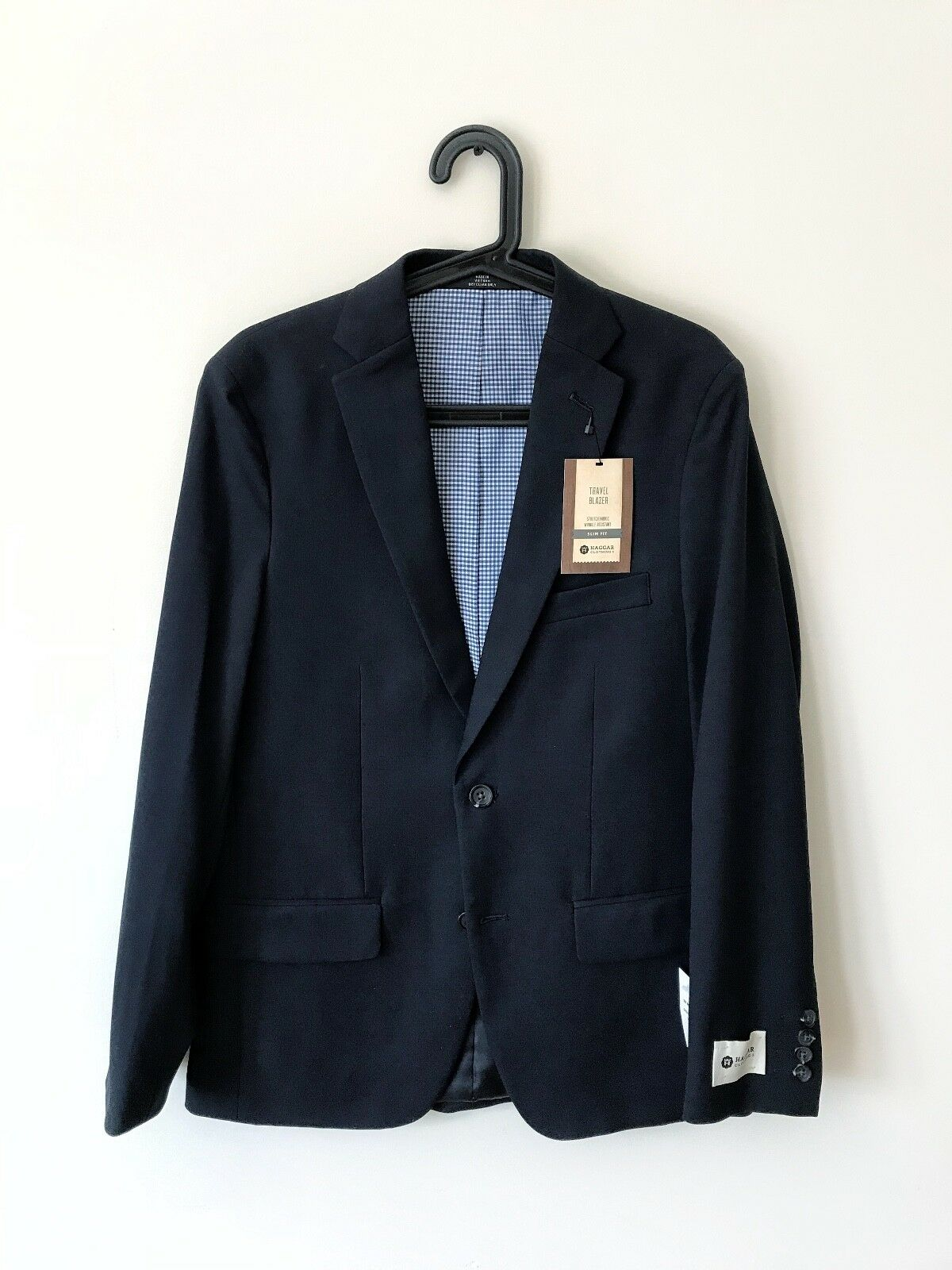Haggar bluee Navy Travel Blazer New With Tags Size 36 Regular