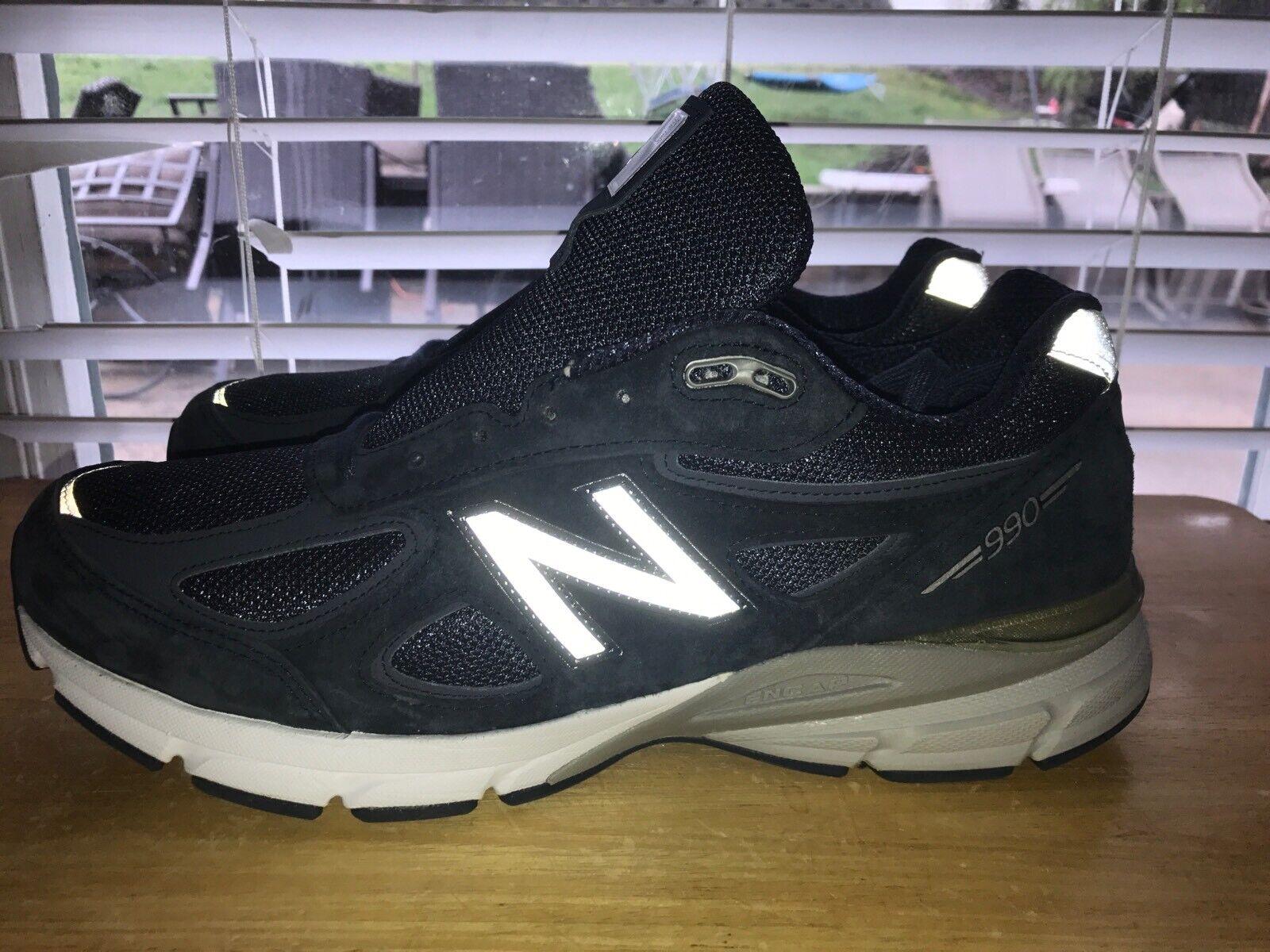 Debes ver 990 Zapatos M990NV4 fabuloso NEW BALANCE Azul Marino Hombre 11.5 2E Ancho Usado En Excelente Condición