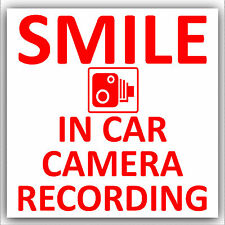 En coche cámara de grabación sticker-cctv sign-van, Camión, Camioneta, Taxi, Bus, Mini cab-d2