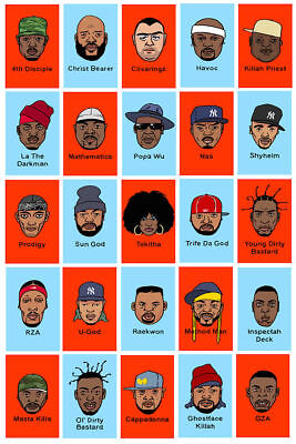 RZA Hip Hop Group Art Hot W230 24x36 14x21 40 Poster The Wu-Tang Clan