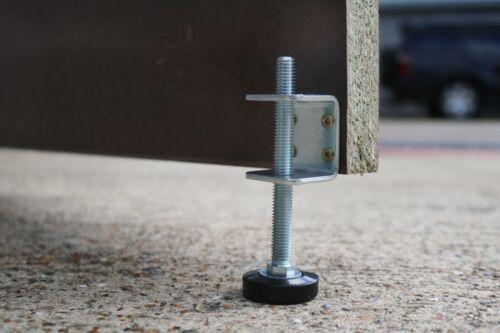 Threaded 4x Heavy Duty Baseboard Bracket /& Levelling Feet Set Adjustable Feet