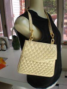 Image Is Loading Vintage Retro Gold Quilted Tianni Handbag Purse Shoulder