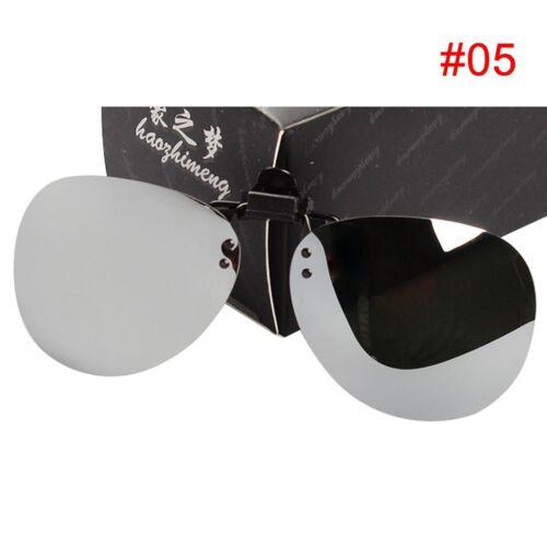 Women Man Polarized Driving Clip-on Flip-up Lens for Sunglasses Glasses