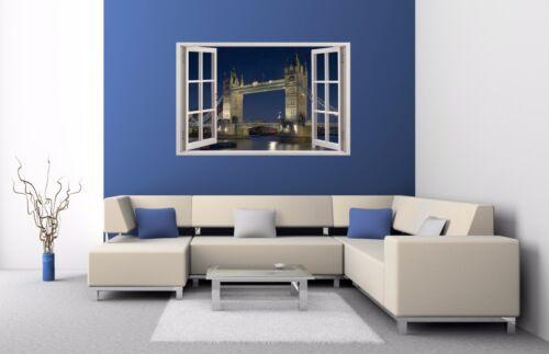 show original title Details about  /Wall Stickers Window 3d London Tower Bridge Wall Decor Sticker Wall Decal 07