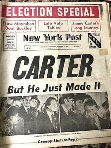 NEW-YORK-POST-NEWSPAPER-JIMMY-CARTER-WINS-PRESIDENCY-NOV-3-1976-Full-Edition