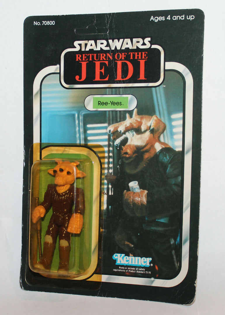 Kenner Star Wars redJ redJ redJ Ree-Yees Carded Japan Tsukuda Return of the Jedi Sealed db75db