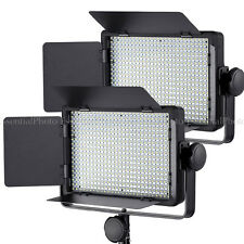 PIXAPRO 2xLECO500 Video Lighting LED Panel Dimmable Film Interview Lights Remote