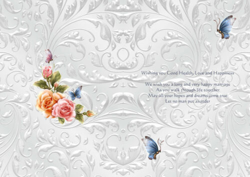 A5  PACK OF 24 LUXURY WEDDING INSERTS 12 BLANK-12WITH VERSE JAN 2018
