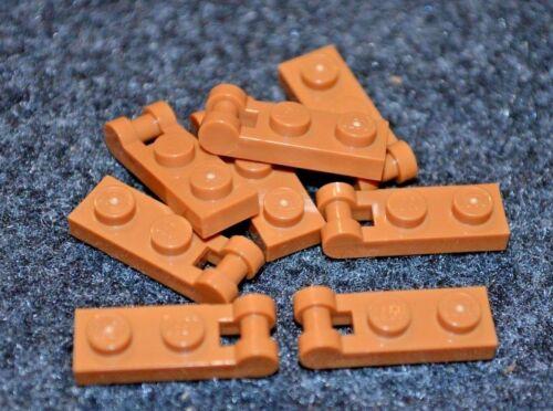 Brown Lego Plate w// Handle Bricks 8 NEW Parts 2x1 Orange