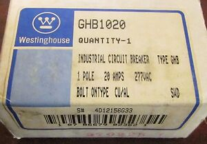 WESTINGHOUSE GHB Breaker Single Pole 20 Amp 277V GHB1020