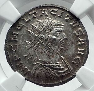 TACITUS-Authentic-Ancient-275AD-Antioch-QUALITY-Roman-Coin-Jupiter-NGC-MS-i78524