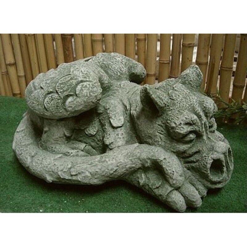 Dragón Dragón de Piedra fundido para jardín Frost Festival figuras nuevo gnóstica po-765