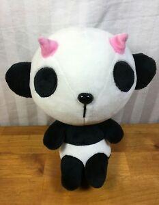 Details About Panda J9 Stuffed Animal Black White Pink Horns Plush Doll