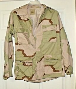 4ccb804cb438f NEW USGI Military Surplus Army Desert Camo DCU BDU shirt coat Small ...