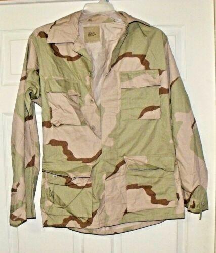 NEW USGI Military Surplus Army Desert Camo  DCU BDU shirt coat Small Long