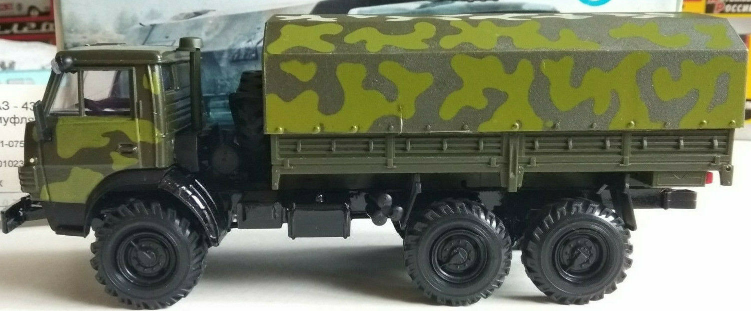 Kamaz - 4310-Vert Camouflage auvent-Elecon 1 43 camion avec boîte d'origine