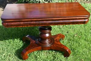 1820s-Antique-Empire-very-heavy-Mahogany-Game-table-console-Table