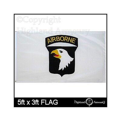 5' x 3' FLAG 101st Airborne Screaming Eagles United States America White Flags