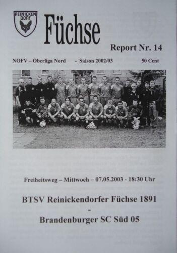Brandenburger SC Süd 05 Programm 2002//03 Reinickendorfer Füchse