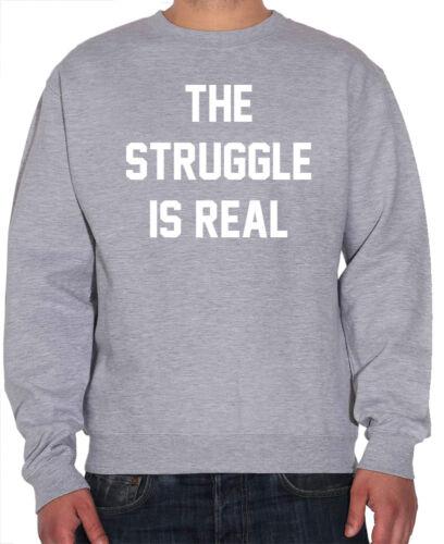 La lotta è reale Divertente Slogan Felpa Da Uomo /& Gioventù