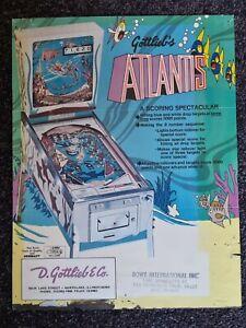 Atlantis - Gottlieb - EM - ORIGINAL Promotional Advertising Flyer - last one
