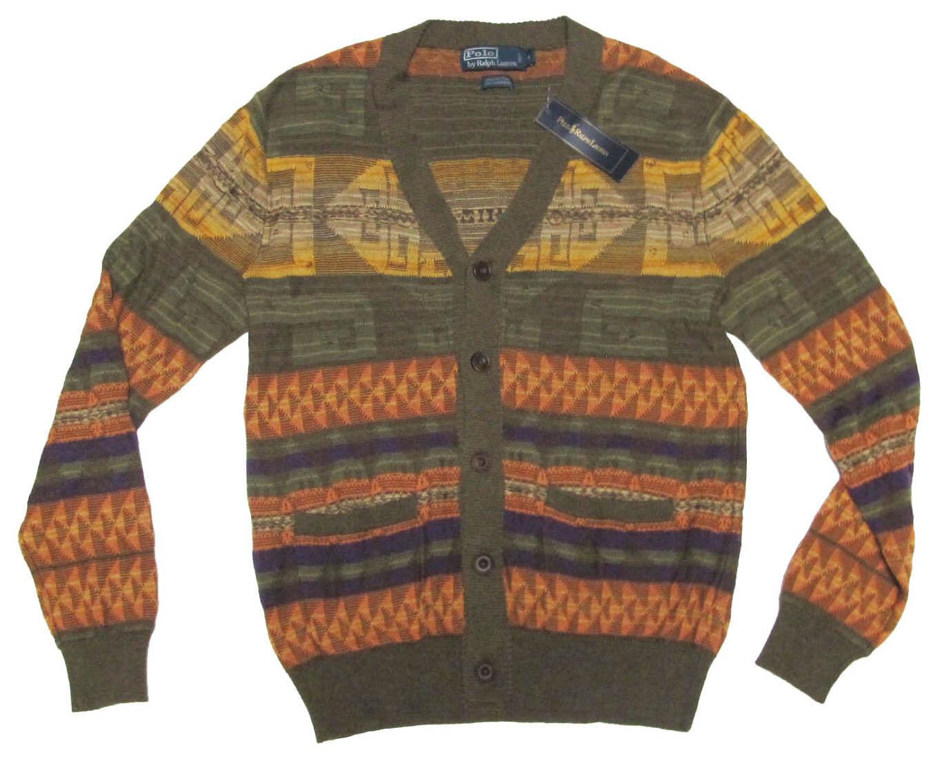 295 Polo Ralph Lauren Mens Southwestern Cashmere Knit Cardigan Sweater Jacket