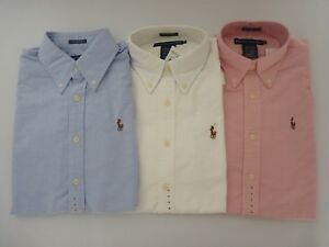 About Long Lauren Fit Sleeve New Down Classic Shirt Ralph Women's Oxford Button Details Polo shdQrt