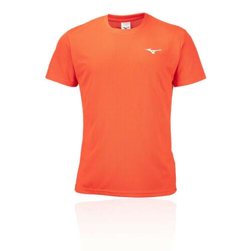 Mizuno Mens DryLite T Shirt Tee Top Orange Sports Running Breathable Lightweight