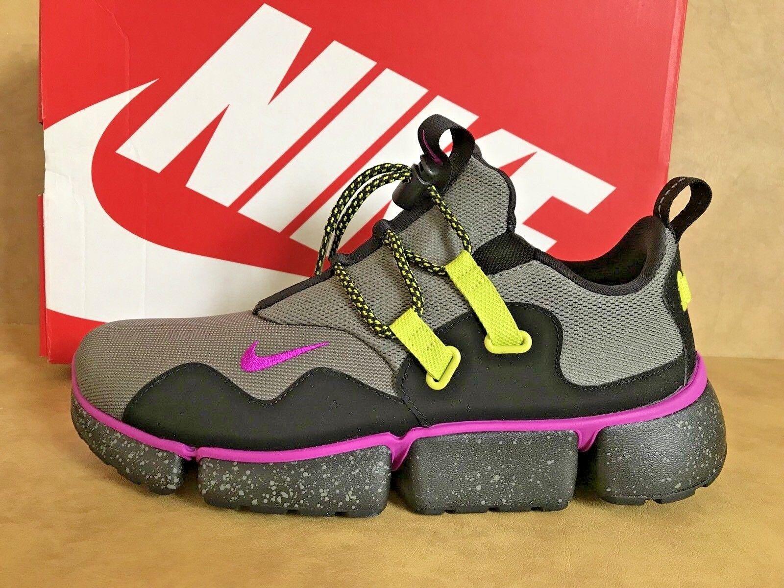 Nike Sneaker Mens Pocketknife DM SU River Rock purple purple purple Black Running shoes Sz 9.5 7e3222