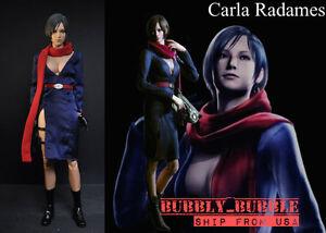 16 Carla Radames Ada Wong Resident Evil Dress Set For Hot Toys Ship