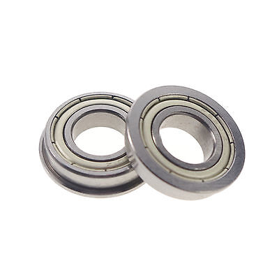 Inner Diameter 1mm to 4mm Shielded Flanged Ball Flange Bearing 2/5/10/50 Pieces