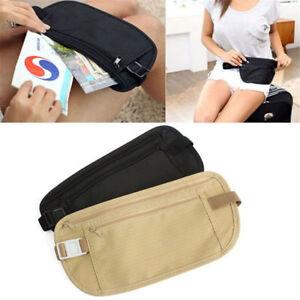 Travel-Pouch-Hidden-Passport-ID-Holder-Compact-Security-Money-Waist-Belt-Bag-Hot