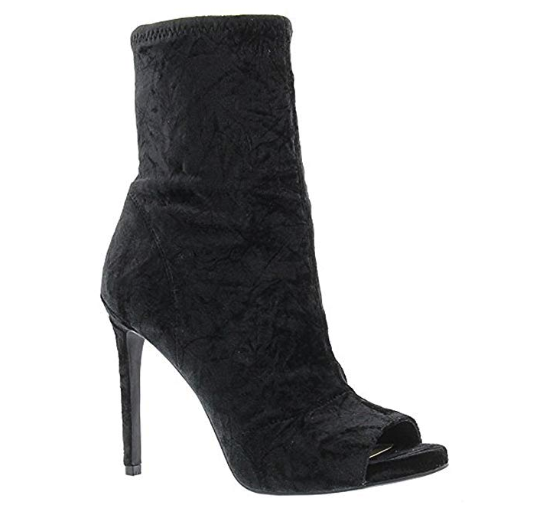 Jessica Simpson Simpson Simpson Women's Rainer Fashion Boot - Black Crushed Velvet 10M ce5224