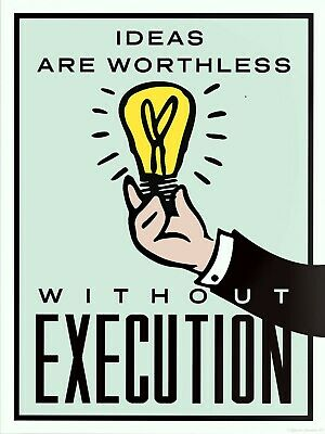 """MONOPOLY /""""EXECUTION/"""" Motivational Artwork //Print on Glossy Paper or Canvas"""