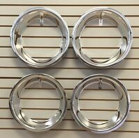 15 3 Chrome Stainless Steel Smooth Trim Ring Set 15x8 15x10 Rally Wheels