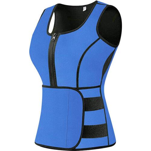 Neoprene Fat Burner Waist Trainer Vest Sauna Sweating Body Shaper Tank Slimmer
