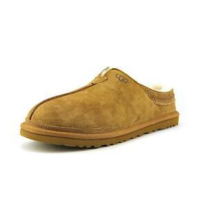 UGG Australia Men's Neuman Chestnut Suede Slippers Moccasin 3234 Size 7 - 17 10