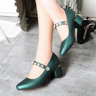 Größere Schuhe 47 Damen Halbschuhe Kitten Absatz Lackleder Freizeit Party Schuhe
