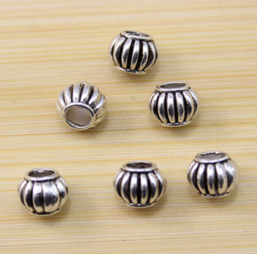 40//80//150pcs wholesale:Very beautiful Big empty All Tibet silver interval beads