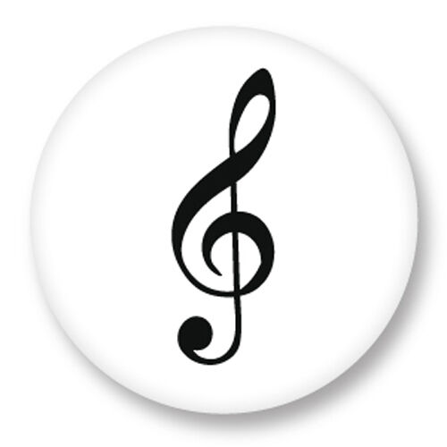 Porte clé Keychain Ø45mm Symbole clé de sol Solfege Musique Notes Portee Gamme