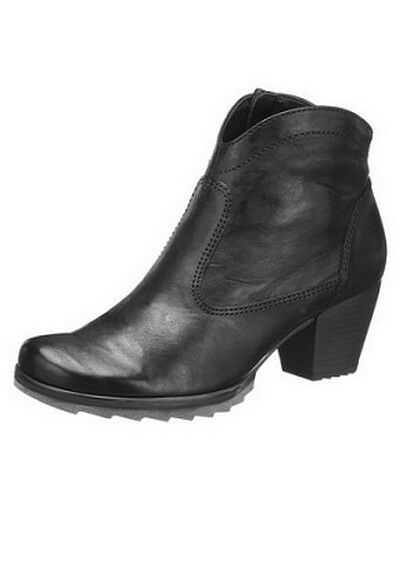 Gabor Bottines Bottines Bottines Royaume-Uni 5-7 Cuir Noir Femmes Bottes Chaussures Pointure 38-41 ac2e5a