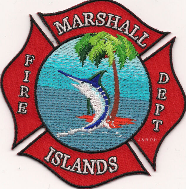 "Marshall Islands Fire Dept.  (4"" x 4"" size)  fire patch"